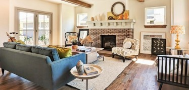 Stunning-Jute-Rug-decorating-ideas-for-Delightful-Living-Room-Traditional-design-ideas-with-blue-couch-brushed-brushed-and-oiled-oak-bungalows-cabin-designer-colors-European